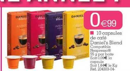 KANDY 10 Capsules De Café Daniel's Blend
