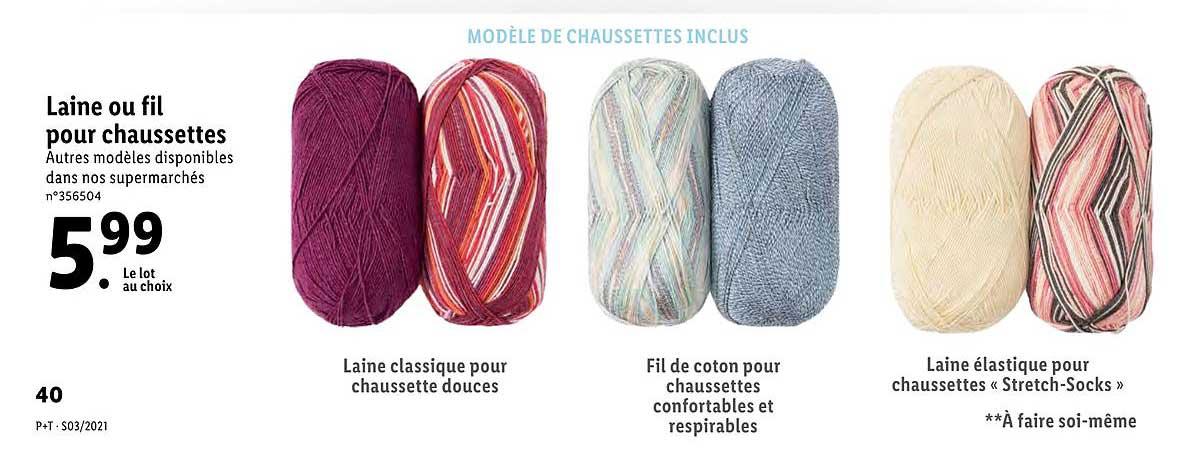 Lidl Laine Ou Fil Pour Chaussettes