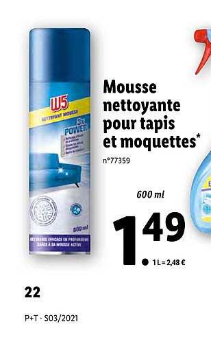 Lidl Mousse Nettoyant Pour Tapis Et Moquettes W5