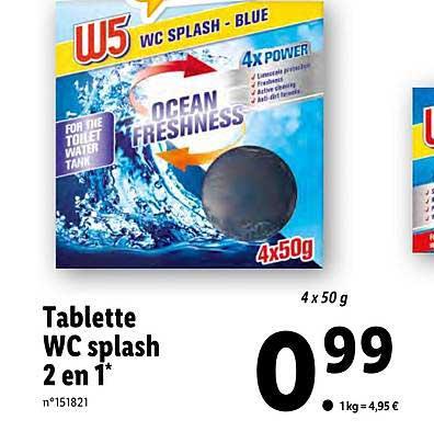 Lidl Tablette Wc Splash 2 En 1 W5