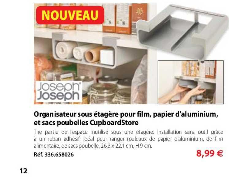 Joseph Joseph sous Étagère-Tiroir Cupboard store pour meubles de cuisine