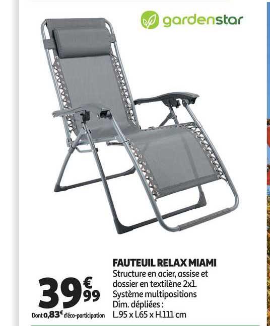 Fauteuil Relax Pliant Multipositions Seigle Rt2 Lafuma Pas Cher A Prix Auchan