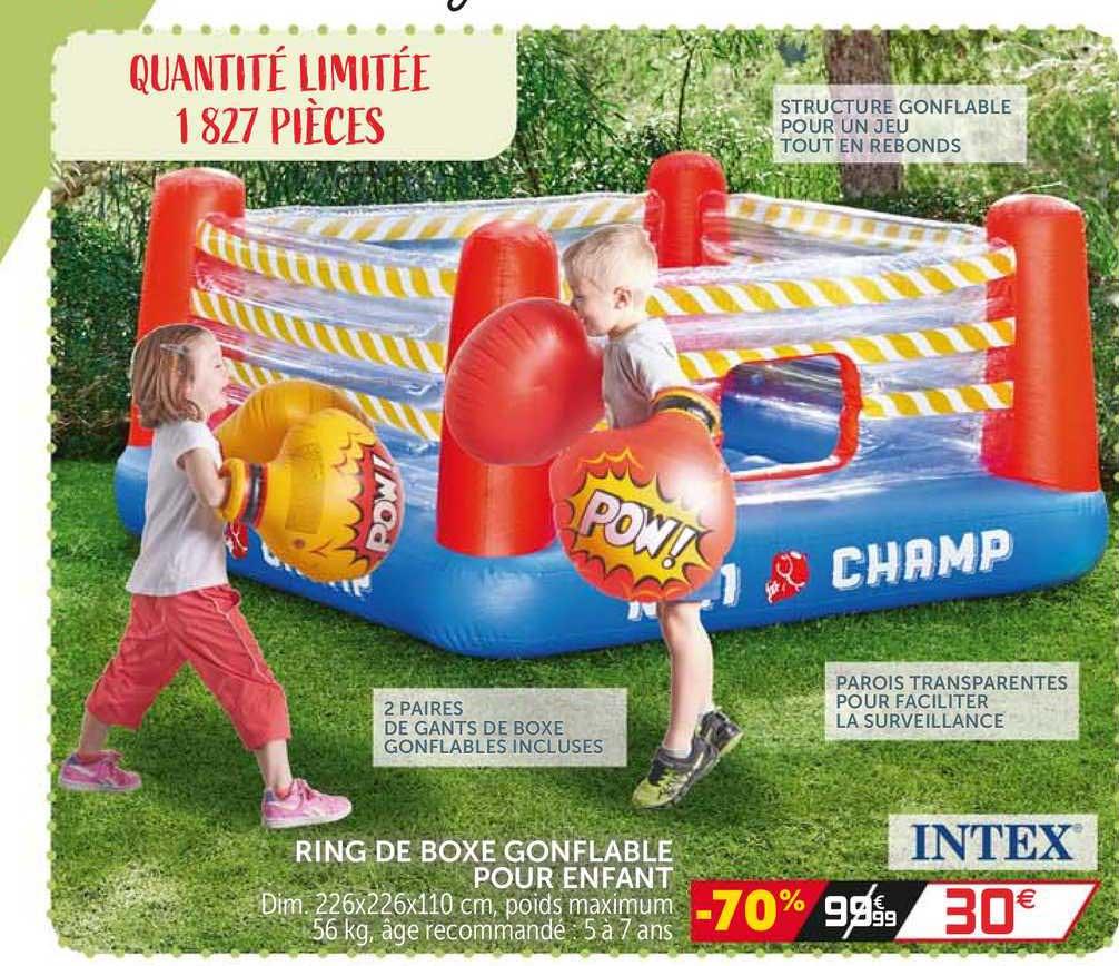 GiFi Ring De Boxe Gonflable Pour Enfant Intex