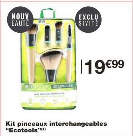 Monoprix Kit Pinceaux Interchangeables Ecotools