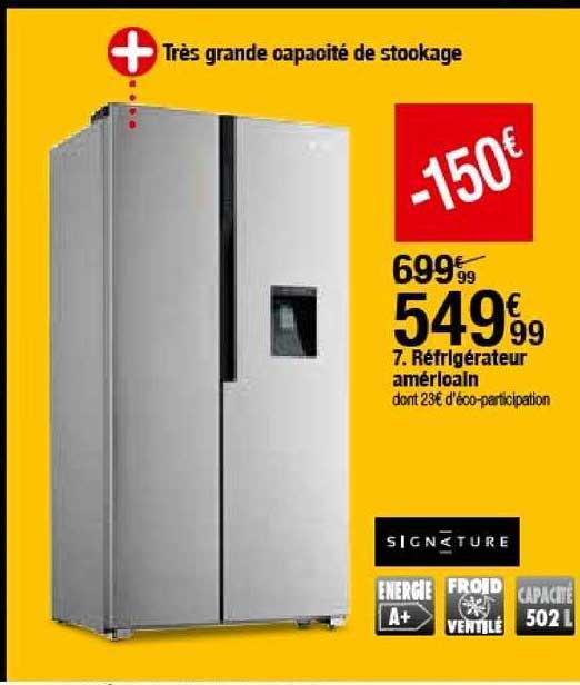 BUT Réfrigérateur Américain Signature