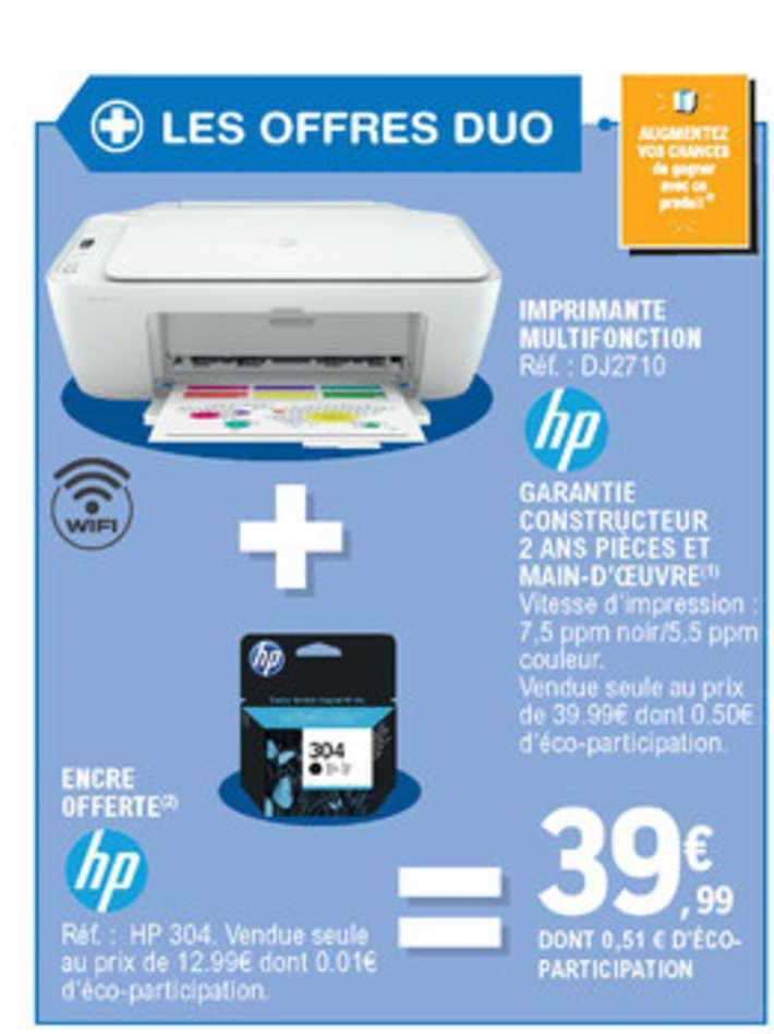 E.Leclerc Imprimante Multifonction + Encre Offerte
