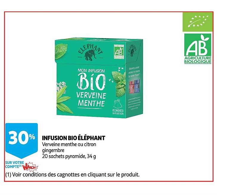 Auchan Infusion Bio éléphant