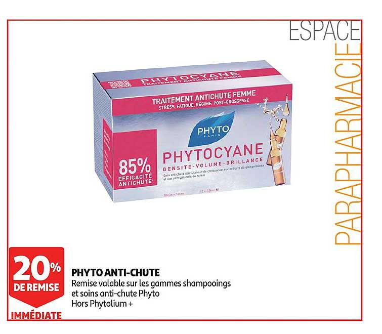 Auchan Phyto Anti Chute 20% De Remise Immédiate