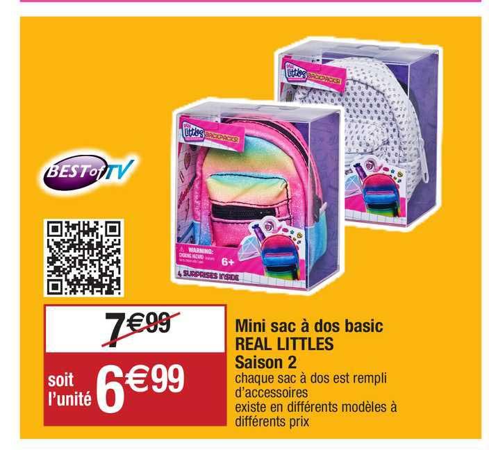 Migros France Mini Sac à Dos Basic Real Littles Saison 2