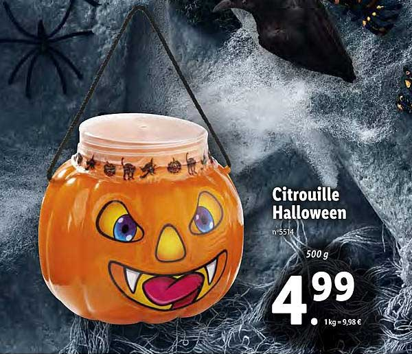 Lidl Citrouille Halloween
