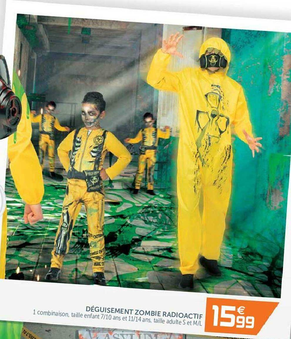 GiFi Déguisement Zombie Radioactif