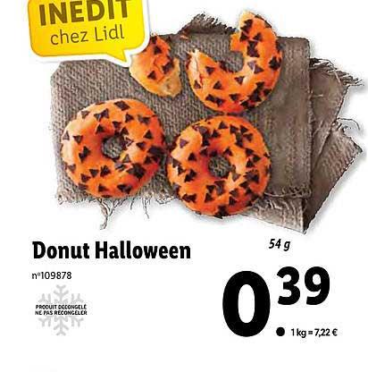 Lidl Donut Halloween
