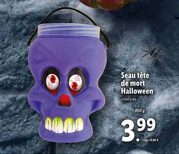 Lidl Eau Tête De Mort Halloween