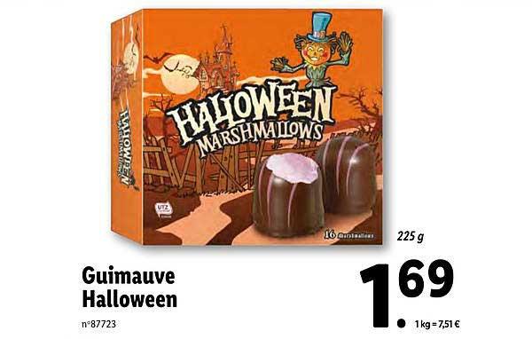 Lidl Guimauve Halloween