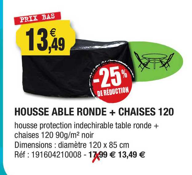 Outiror House Table Ronde + Chaises 120 -25% De Réduction