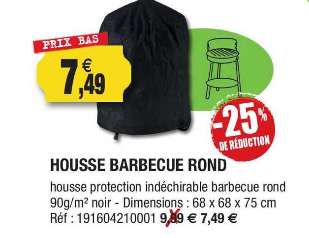 Outiror Housse Barbecue Rond -25% De Réduction