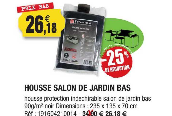 Outiror Housse Salon De Jardin Bas -25% De Réduction