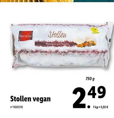 Lidl Stollen Vegan Favorina