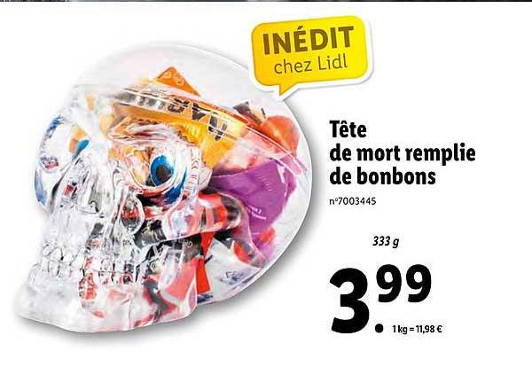 Lidl Tête De Mort Remplie De Bonbons
