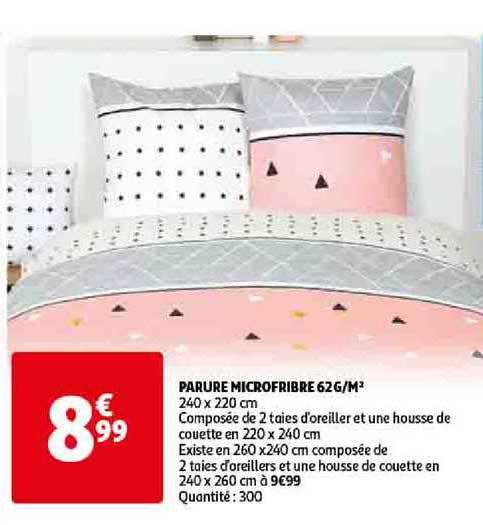 Offre Parure Microfribre 62g M2 Chez Auchan Direct