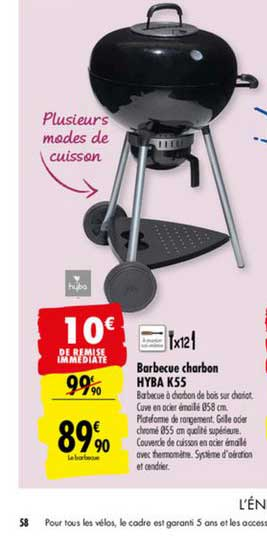 Carrefour Barbecue Charbon Hyba K55
