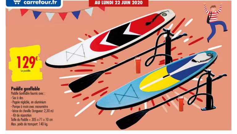 Carrefour Paddle Gonfable