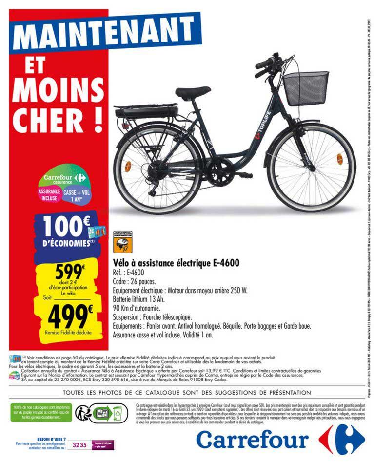 Carrefour Vélo à Assistance électrique E4600