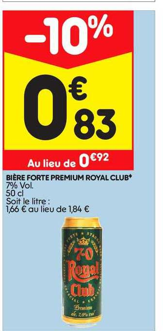 Leader Price Bière Forte Premium Royal Club