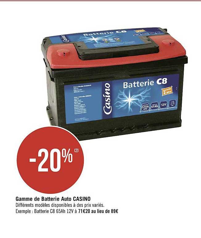 Géant Casino Gamme De Batterie Auto Casino