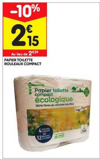 Leader Price Papier Toilette Rouleaux Compact