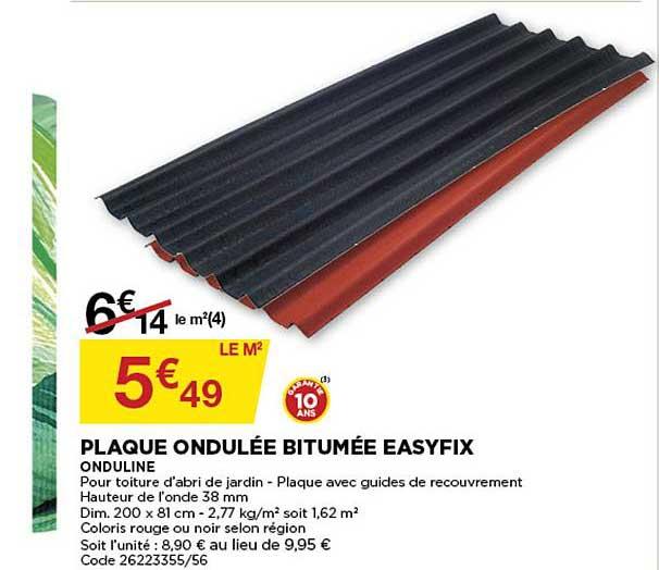 Bricomarché Plaque Ondulée Bitumée Easyfix
