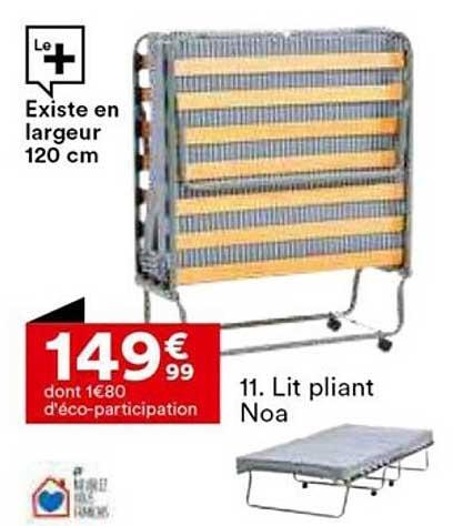 Lit Pliant 90x190 Cm Lea Lit Pliant But