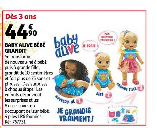 Auchan Baby Alive Bébé Grandit