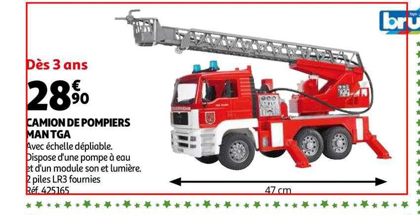 Offre Camion De Pompiers Man Tga Chez Auchan