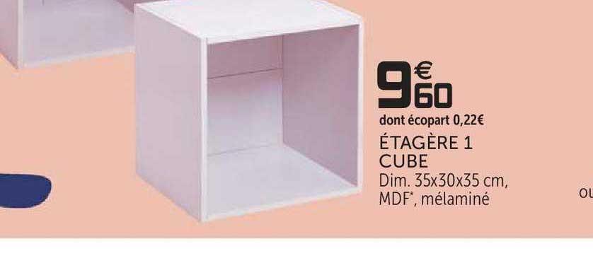 Offre Etagere 1 Cube Chez Gifi