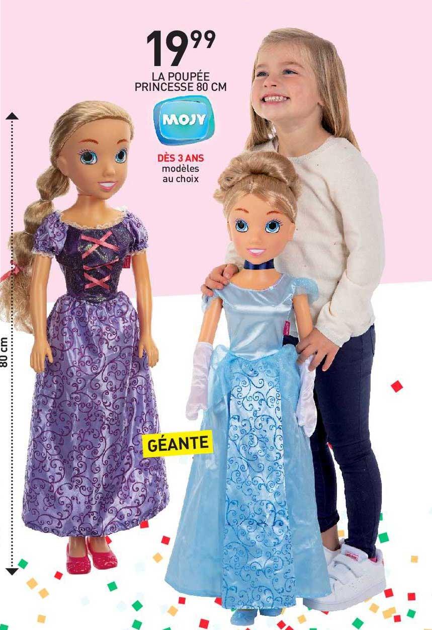 Stokomani La Poupée Princesse 80 Cm Mojy