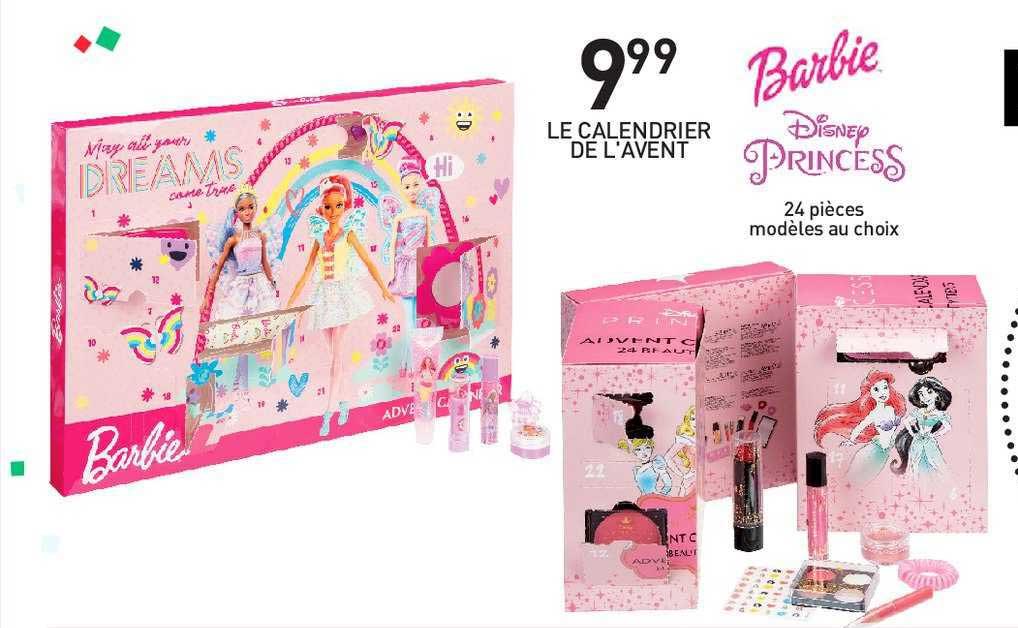Offre Le Calendrier De L'avent Barbie Disney Princess chez Stokomani