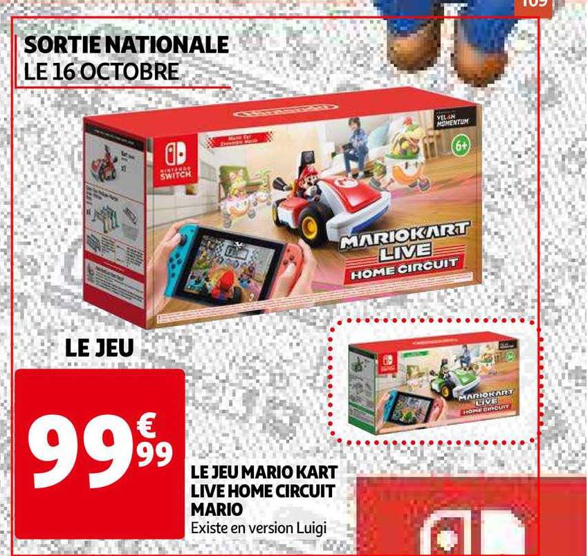 Auchan Le Jeu Mario Kart Live Home Circuit Mario
