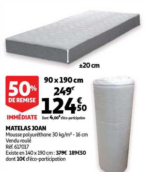 Offre Matelas Joan 50 Remise Immediate Chez Auchan Direct