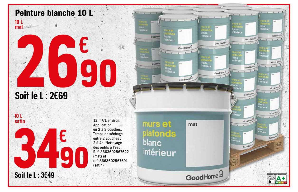 Offre Peinture Blanche 10 L Chez Brico Depot