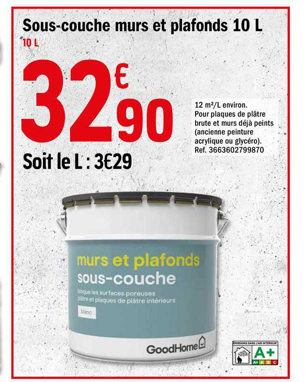 Offre Sous Couches Murs Et Plafonds 10 L Chez Brico Depot