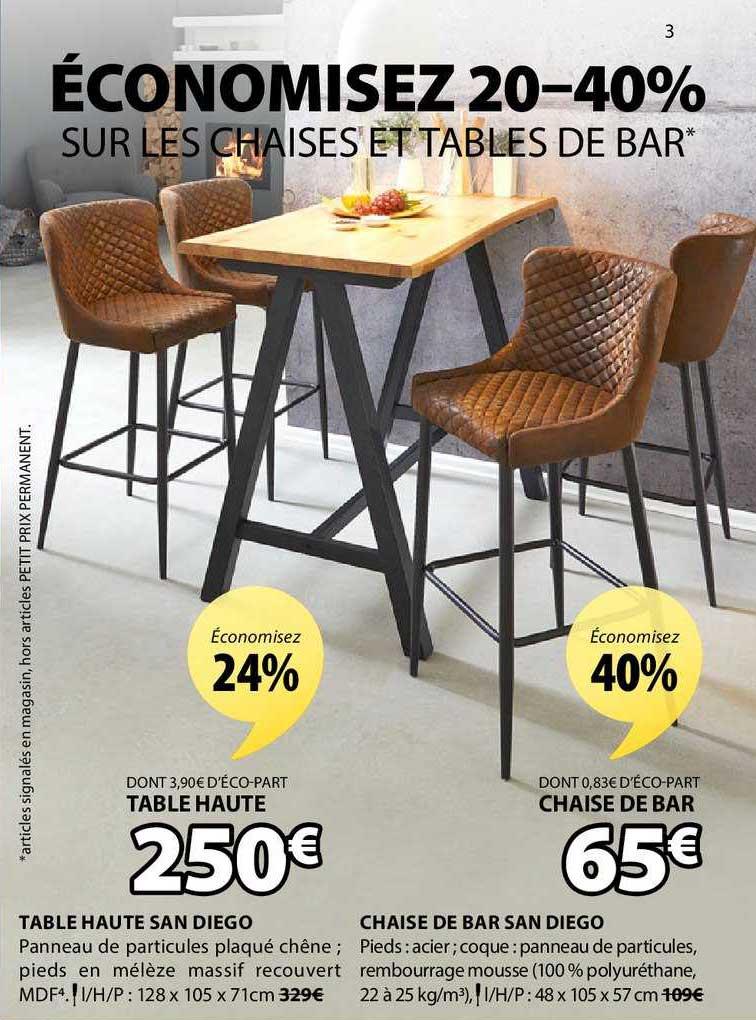JYSK Table Haute San Diego Chaise De Bar San Diego