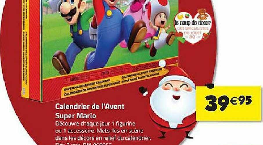 La Grande Récré Calendrier De L'avent Super Mario