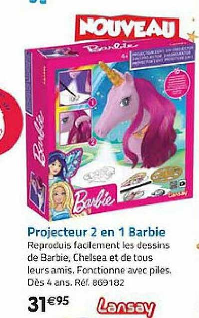 La Grande Récré Projecteur 2 En 1 Barbie Lansay
