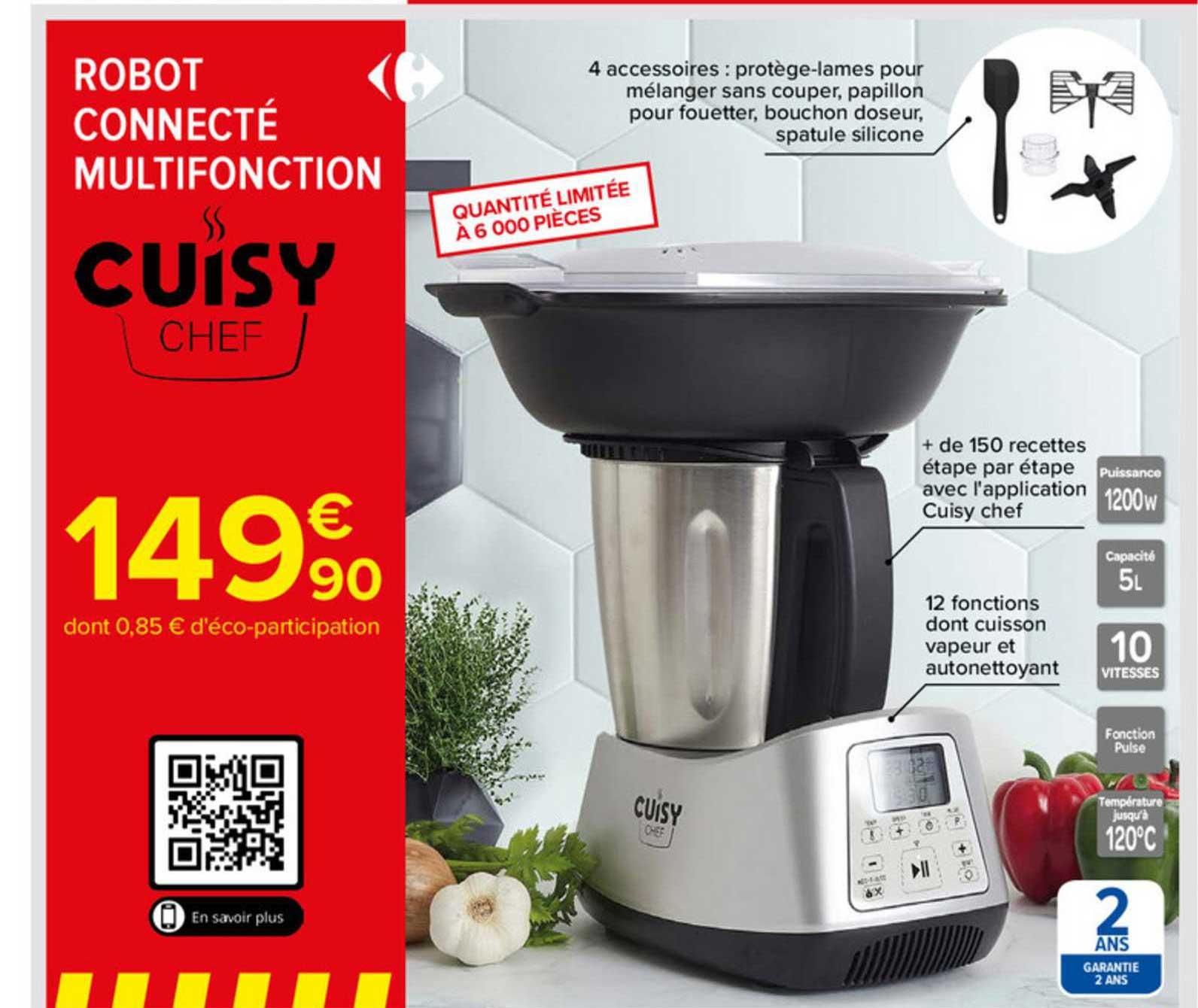 Carrefour Robot Connecté Multifonction Cuisy Chef