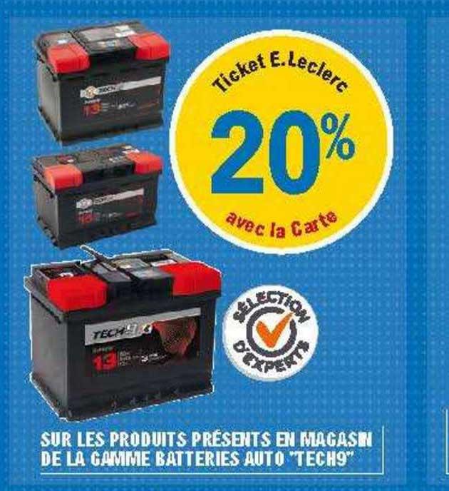 E.Leclerc Gamme Batteries Auto