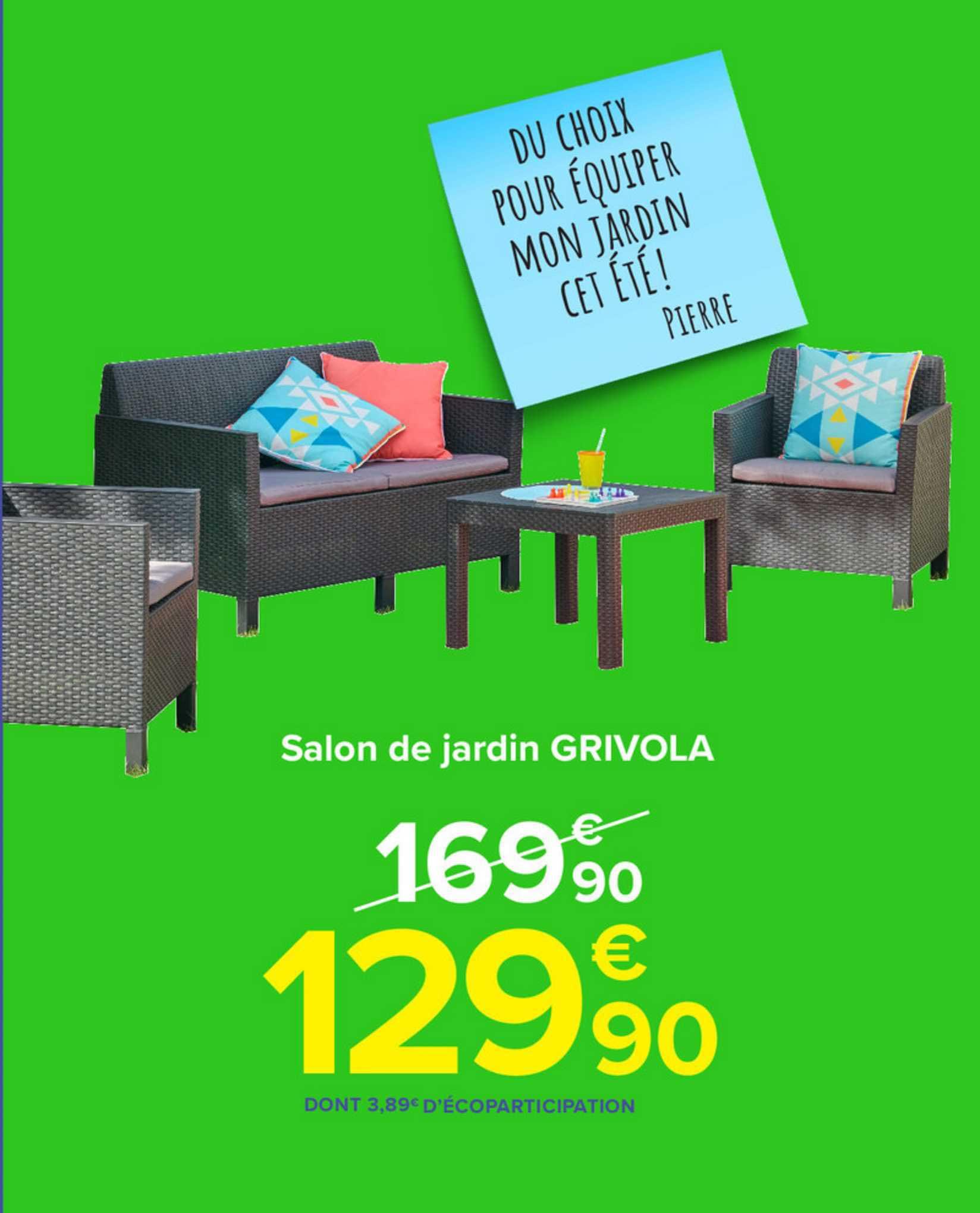 Carrefour Salon De Jardin Grivola