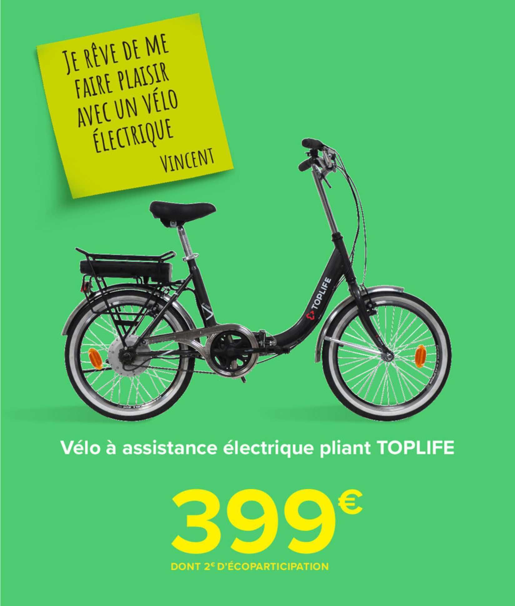 Carrefour Market Velo A Assistance Electrique Pliant Toplife