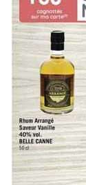 Casino Supermarchés Rhum Arrangé Saveur Vanille 40% Vol. Belle Canne