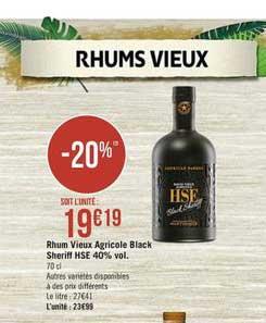 Casino Supermarchés Rhum Vieux Agricole Black Sheriff Hse 40% Vol.